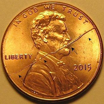 Bisecting Rim to Rim Die Cracks on U  S  Coins : Cuds on Coins