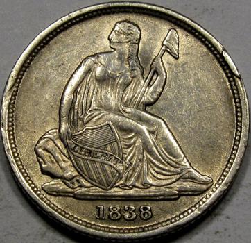 RandallP.HolderRareCoins10c(NS)1838-OA