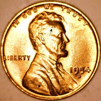 Lincoln Cent Retained Interior Die Break